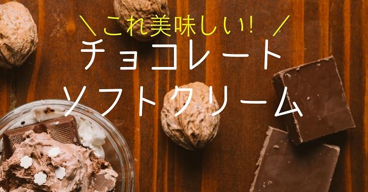 アイス派だけどこれは美味しい!おすすめチョコソフトクリーム3選
